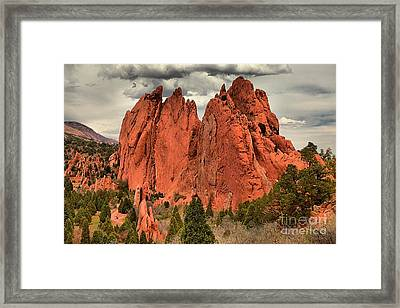 Storm Over Red Rocks Framed Print by Adam Jewell
