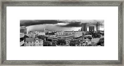 Storm Over San Antonio Texas Skyline Framed Print by Silvio Ligutti