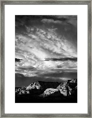 Storm Over Sedona Framed Print by Dave Bowman