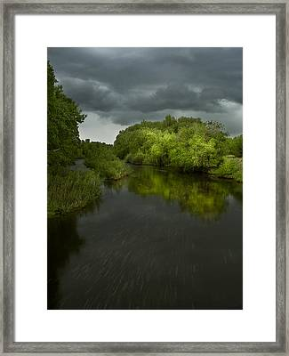 Storm Over The Poudre Framed Print by Michael Van Beber