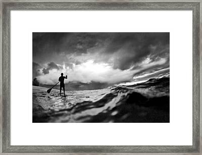 Storm Paddler Framed Print by Sean Davey