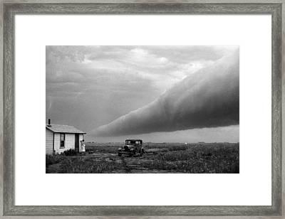 Storm Roll Cloud Framed Print by Donald  Erickson