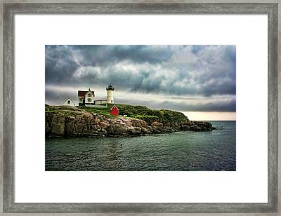 Storm Rolling In Framed Print by Heather Applegate