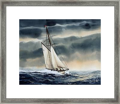 Storm Sailing Framed Print by James Williamson