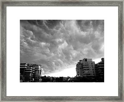 Storm Framed Print by Silvia Puiu