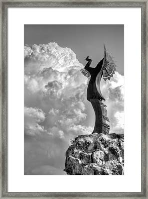 Storm Watcher Bw Framed Print by JC Findley