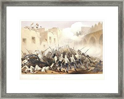 Storming Of Delhi Framed Print by British Library