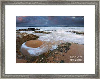 Stormrise Whirlpool Framed Print by Mike Dawson