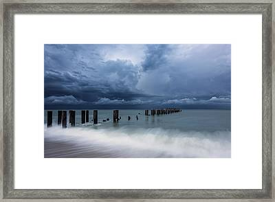 Storm's A Comin' Framed Print by Mike Lang