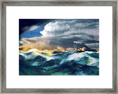 Storms And The Power Of Nature Framed Print by Georgiana Romanovna