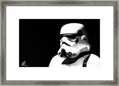Stormtrooper Framed Print by Chris Thomas