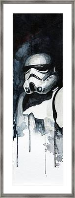 Stormtrooper Framed Print by David Kraig
