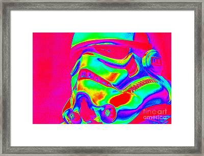 Stormtrooper Helmet 31 Framed Print by Micah May