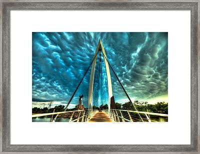 Stormy Bridge Framed Print by  Caleb McGinn