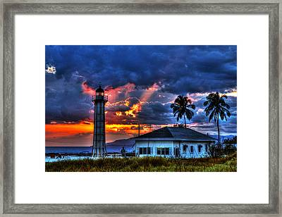 Stormy Framed Print by Christian Schroeder