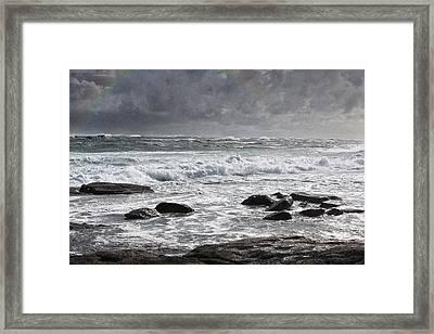 Stormy Coast Framed Print by Niel Morley