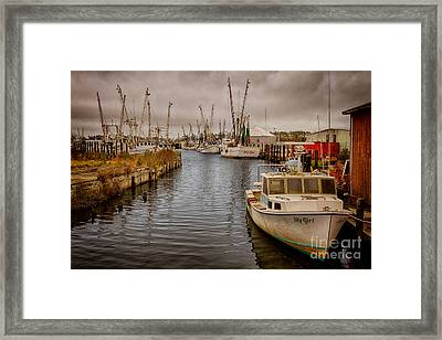 Stormy Day At Englehard - Outer Banks I Framed Print by Dan Carmichael
