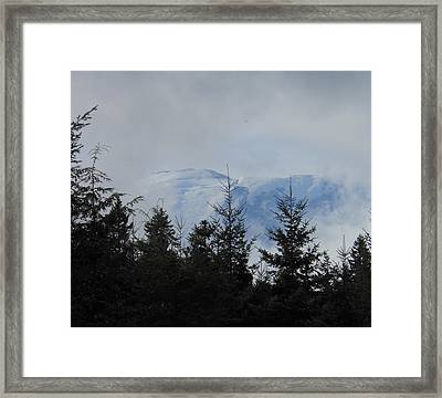 Stormy Day At Mt. Rainier Framed Print by Kay Gilley