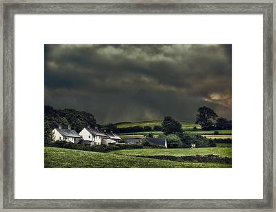 Stormy Hamlet Framed Print by Amanda And Christopher Elwell