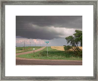 Stormy Highway 34 Framed Print by Brian  Maloney