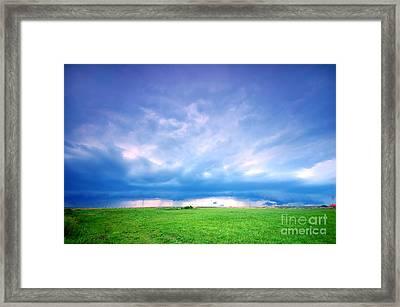 Stormy Landscape Framed Print by Michal Bednarek
