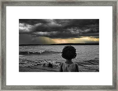 Stormy Life Framed Print by Steven  Michael