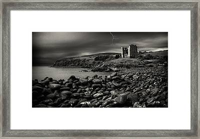 Stormy Night In Ireland Framed Print by Dick Wood