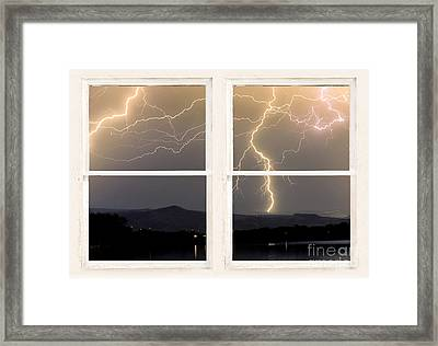 Stormy Night Window View Framed Print by James BO  Insogna