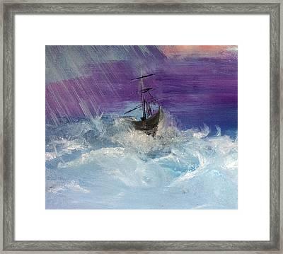 Stormy Seas Framed Print by Lisa Kaiser
