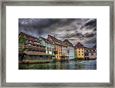 Stormy Skies In Strasbourg Framed Print by Carol Japp