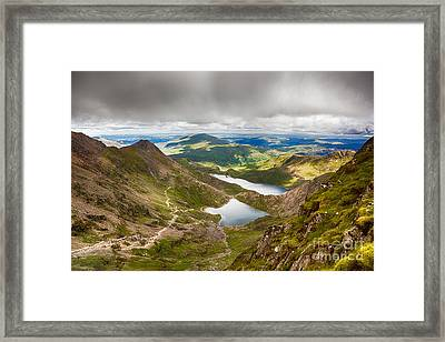 Stormy Skies Over Snowdonia Framed Print by Jane Rix