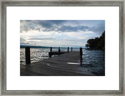 Stormy Sky Over Seneca Lake Framed Print by Photographic Arts And Design Studio