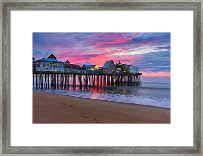 Stormy Sunrise At Oob Framed Print by Benjamin Williamson