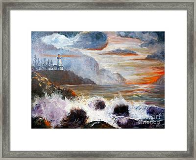 Stormy Sunset Framed Print by Lee Piper