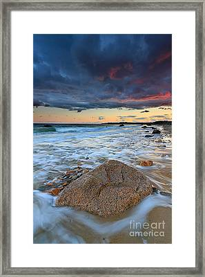 Stormy Sunset Seascape Framed Print by Katherine Gendreau