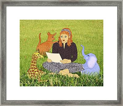 Storytime Framed Print by Julia and David Bowman