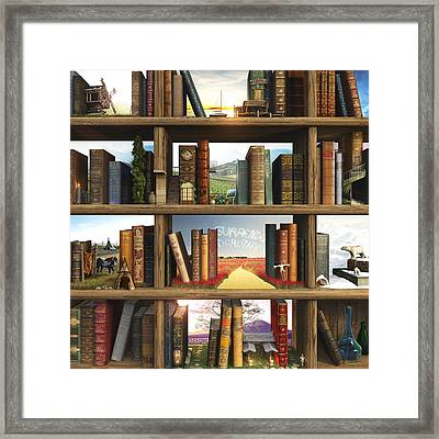 Storyworld Framed Print by Cynthia Decker