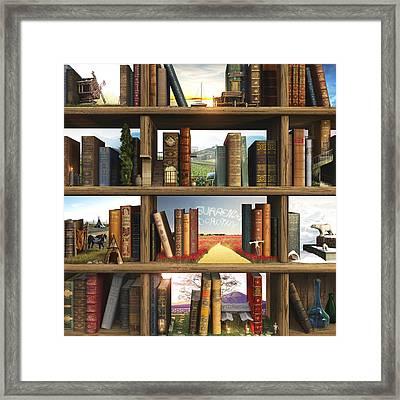 Curious3d Framed Print featuring the digital art Storyworld by Cynthia Decker