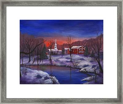 Stowe - Vermont Framed Print by Anastasiya Malakhova