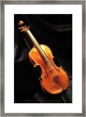Stradivari Violin Framed Print by Patrick Landmann