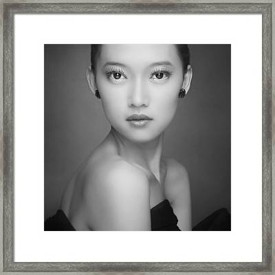 Straight Framed Print by Azalaka
