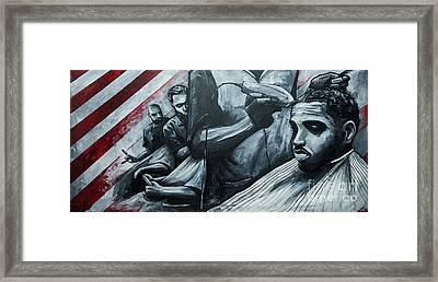 Straight Cutttin Framed Print by Charles Edwards