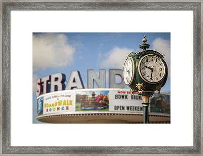 Strand Theater Clock Framed Print by Al Hurley
