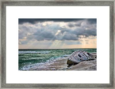 Stranded In Paradise  Framed Print by JC Findley
