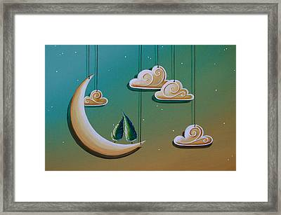 Stranded In The Evening Sky Framed Print by Cindy Thornton