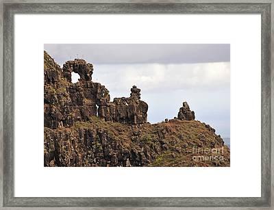 Strange Rock Formation Framed Print by Sami Sarkis