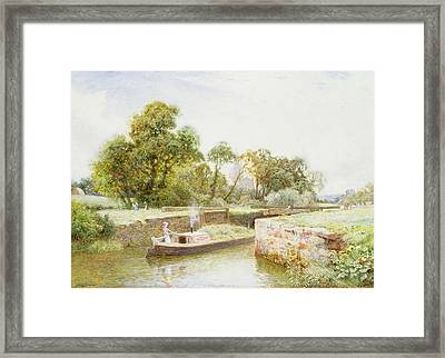 Stratford Lock Framed Print by Arthur Claude Strachan