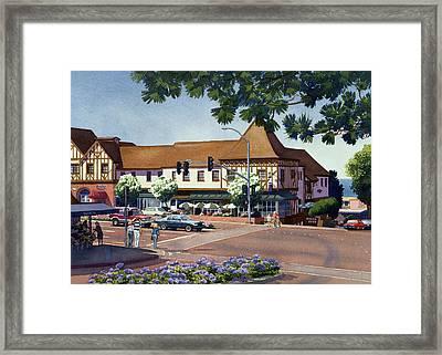 Stratford Square Del Mar Framed Print by Mary Helmreich