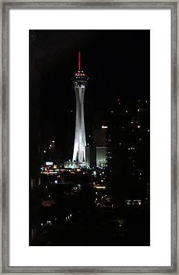 Stratosphere Tower Las Vegas Framed Print by Kay Novy