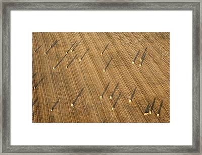 Straw Bales, Chenevelles Framed Print by Laurent Salomon